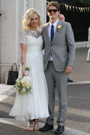 FAMEFLYNET - Celebrities Attend The Reception For The Wedding Between Fearne Cotton And Jesse Wood